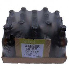 Amber Glass Beer Bottles 15 * 500ml