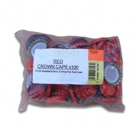 Red Crown Caps 100 pack