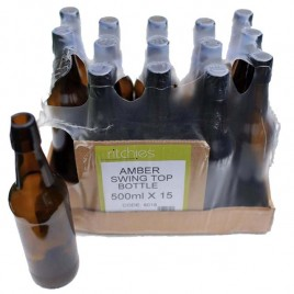 Amber Glass Swing Top Bottles 15 * 500ml